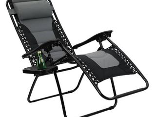 Padded Zero Gravity lounge Chair   Gray   Captiva Designs