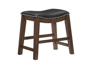 Ordway 18  Height Saddle Stool  Black color