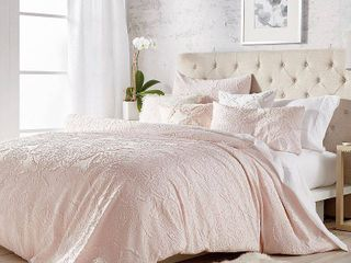 Microsculpt Solid Medallion 3 piece Comforter Set