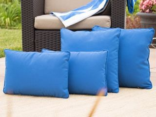 Coronado Outdoor Pillow cover only  Set of 4  by Christopher Knight Home