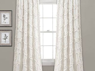 lush Decor Ruffle Diamond Curtain Panel Pair  Retail 76 48