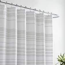 Vera Wang Irregular Stripe White Oat Shower Curtain