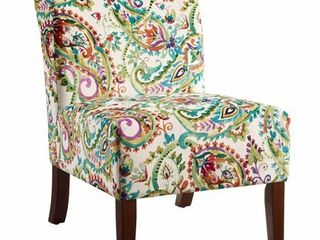 Jules Curved Back Paisley Slipper Chair  Retail 199 49