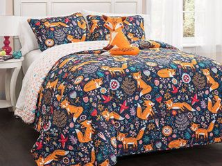 lush Decor Pixie Fox 4 piece Quilt Set  Retail 75 53