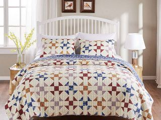 Barefoot Bungalow Savannah Reversible Quilt Set king