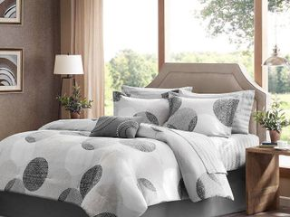 Cabrillo Comforter Set  Twin  Gray   7pc