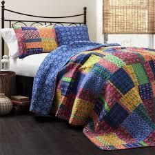 The Curated Nomad Doherty Multicolored 3 piece Quilt Set  Retail 116 49
