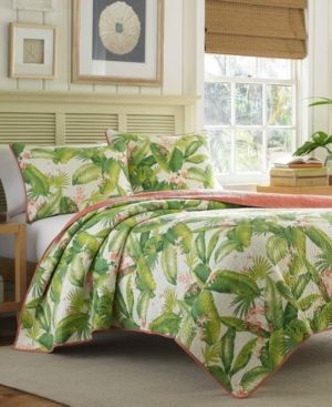 Tommy Bahama Aregada Dock Ecru Cotton 3 piece Quilt Set  Retail 129 97