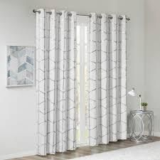 Intelligent Design Khloe Total Blackout Metallic Print Grommet Top Curtain Panels
