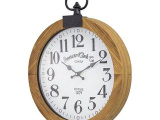 American Clock Co  Pocket Watch Wall Clock 20  Retail 83 99