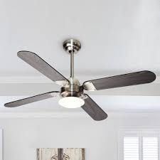 Stain Nickel 42 inch lED Ceiling Fan with Wood Blades  Retail 92 49