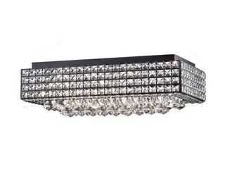 Echion 8 light Black Flush Mount  Retail 208 49
