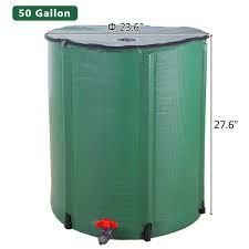 50 66 100 Gallon Folding Rain Barrel Water Collector Green