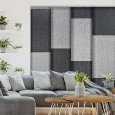 GoDear Design Natural Woven Adjustable Sliding Panel  City Series  45 8  86  W x 96  l  Retail 165 99 black and white