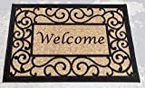 Ottomanson Ottohome Collection Rectangular Beige Welcome Doormat  20  X 30    20  x 30