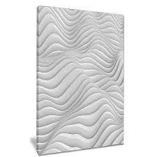 fractal rippled white 3d waves canvas print