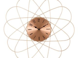 la Crosse Clock 83247 BHG 24  Mid Century Orbit Copper Metal Quartz Clock