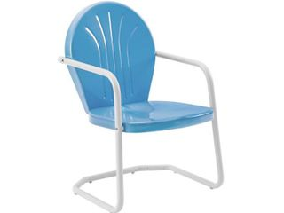 Howard Bay Metal Chair In Sky Blue Finish by Havenside Home