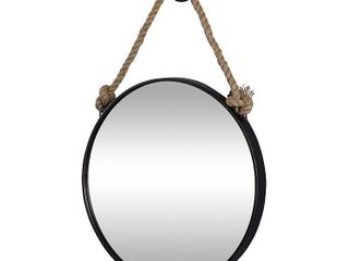 FirsTime   Co  Dockline Round Mirror  American Crafted  Oil Rubbed Bronze  Mirror  22 x 2 x 33 5 in   22 x 2 x 33 5 in  Retail 75 98