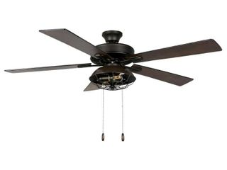 River of Goods Quintin 52 in  lED Indoor Bronze lantern Ceiling Fan with light
