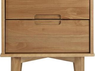 Carson Carrington 20 inch longyearbyen 2 drawer Mid century Modern Nightstand  Retail 109 99