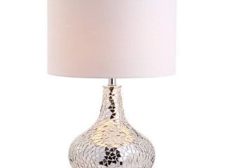 Emilia 26  Mirrored Mosaic lED Table lamp  Silver by JONATHAN Y  Retail 77 48