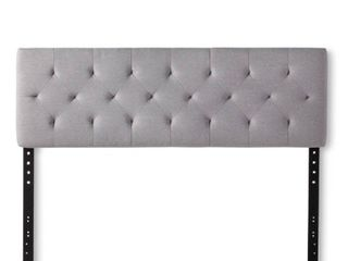 Brookside Emmie Adjustable Upholstered Headboard only Retail 115 05 queen stone diamond tufted