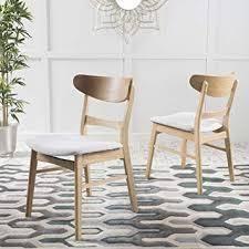 Idalia Mid Century Modern Dining Chairs set of 2 light beige