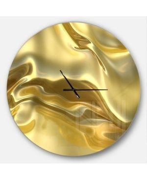 Designart  Golden Cloth Texture  Oversized Modern Wall Clock  Retail 152 99