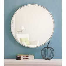 Carson Carrington labbemala Metal Frame Round Mirror  Retail 137 99 white