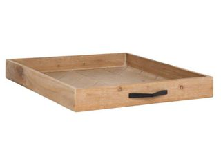 Kate and laurel Kley Rustic Modern Rectangular Wooden Tray