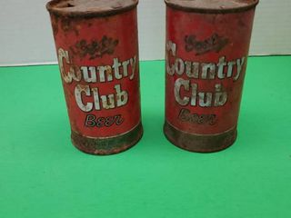 Vintage GOETZ  COUNTRY ClUB BEER CANS