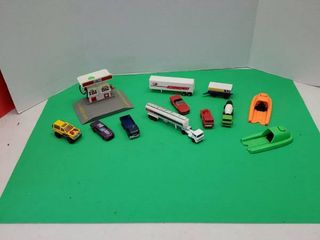 Die Cast Car  Trucks  Gas Pump And More
