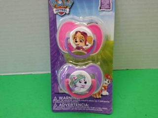 Paw Patrol 2  Pack Pacifiers W Covers