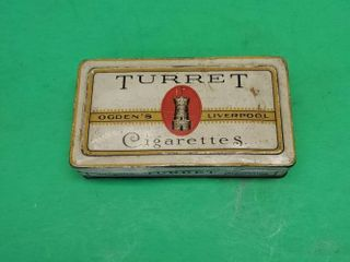 Vintage TURRET Cigarettes TIN