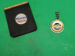 JOHN F  KENNEDY CENTER  KEY CHAIN  AND NIXON NOW CARD HOlDER