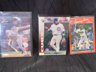 Sammy Sosa Set of 3 Cards Including Rookie