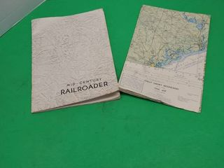 MID CENTURY RAIlROADER BOOK W  GREAT SMOKY MOUNTAINS MAP