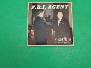 F B I  AGENT VIEW MASTER 21 STEREO SlID SHOW PICTURES