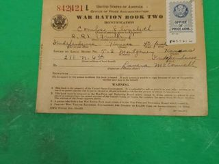 1942 WAR RATION BOOK TWO