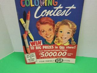 1954 Vintage Coloring Book