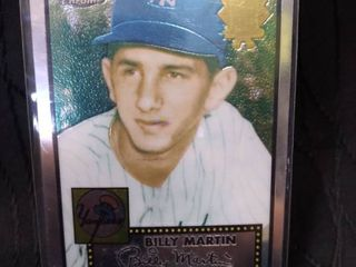 Billy Martin Yankees Replica Card