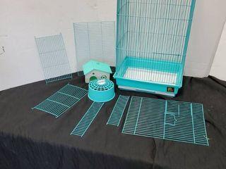 Gerbil Cage W Excessories Pale Blue