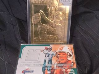 Dan Marino 24Kt Gold  amp  Game Time Uniformity Cards