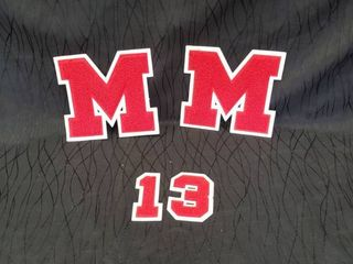 letter Jacket letter M  2   also Numbers 1and 3 for Maize Eagle High School