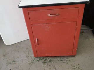 Porcelain Top Metal Cabinet