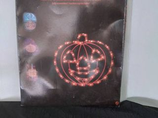 Impact Innovations Halloween lighted Window Decoration  Pumpkin Decorations