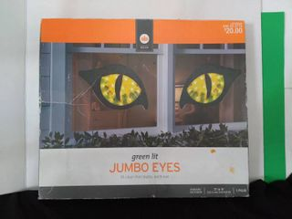 Green lit Jumbo Cat Eyes Decor