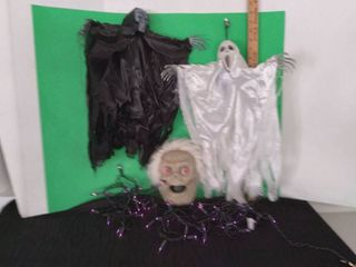 Halloween Decor lot Including lights