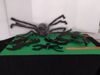 Bats   Spider lot Including lighted Spider